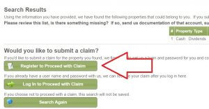 filing a claim for unclaimed property